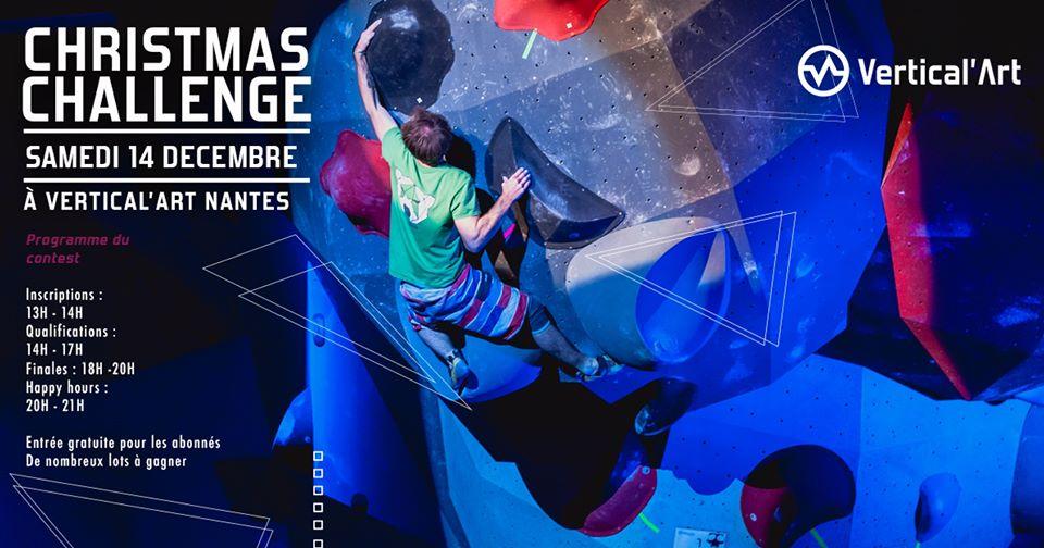 Challenge de Noël-Salle d'escalade de Bloc à Nantes -Christmas Challenge- Vertical'art Nantes- Grimpeurs-Grimpeuses- Soirée - Fun - Couleurs