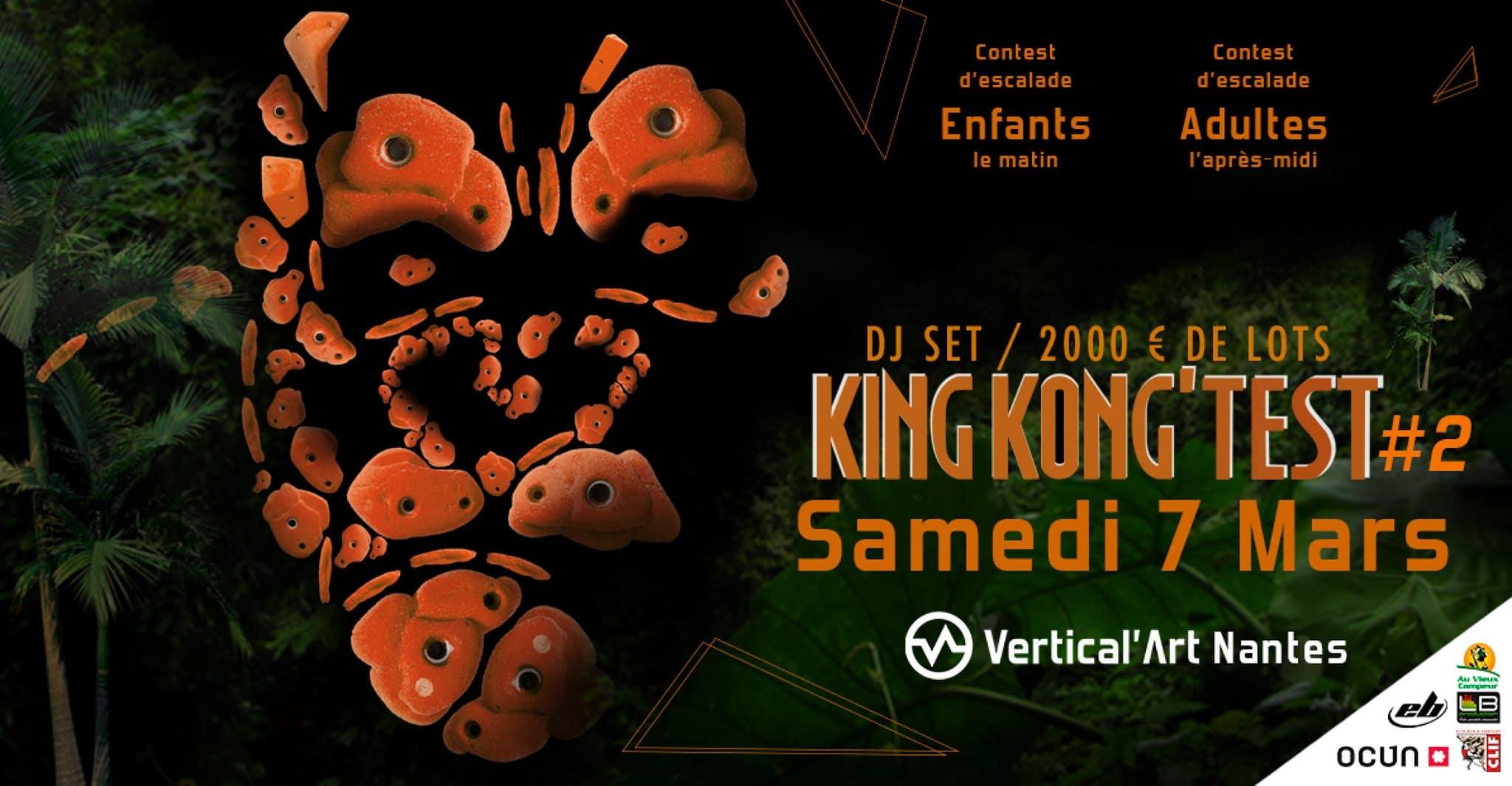 Samedi 7 mars -Contest d'escalade de bloc - Kingkong'test Vertical'art nantes - salle d'escalade de blocs - Salle de grimpe Nantes- Bar restaurant -salle de musculation vertical'art - Bloc Empire state building -
