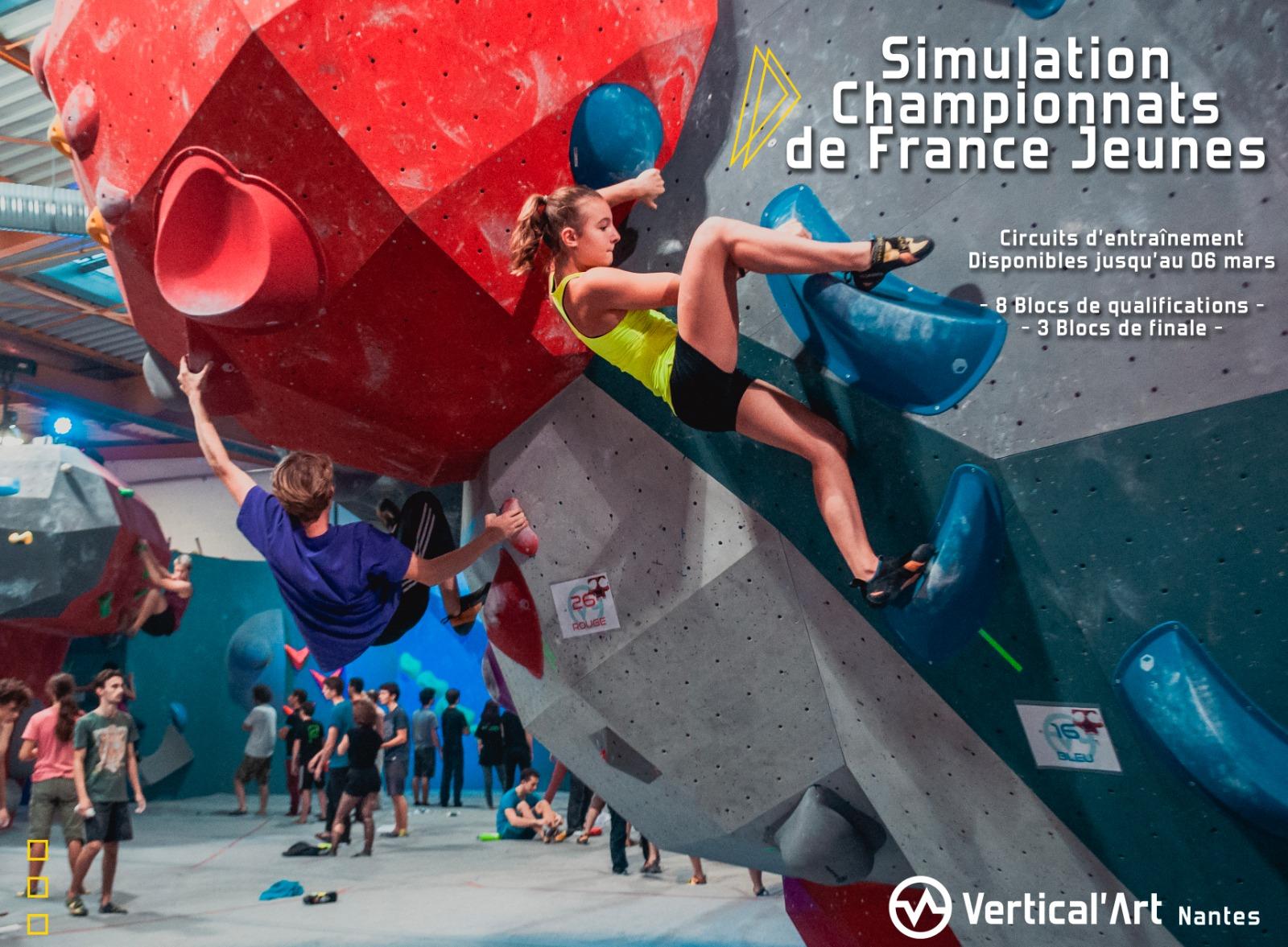 Préparation championnats de France- Simulation compétition - escalade de bloc - Vertical'Art nantes