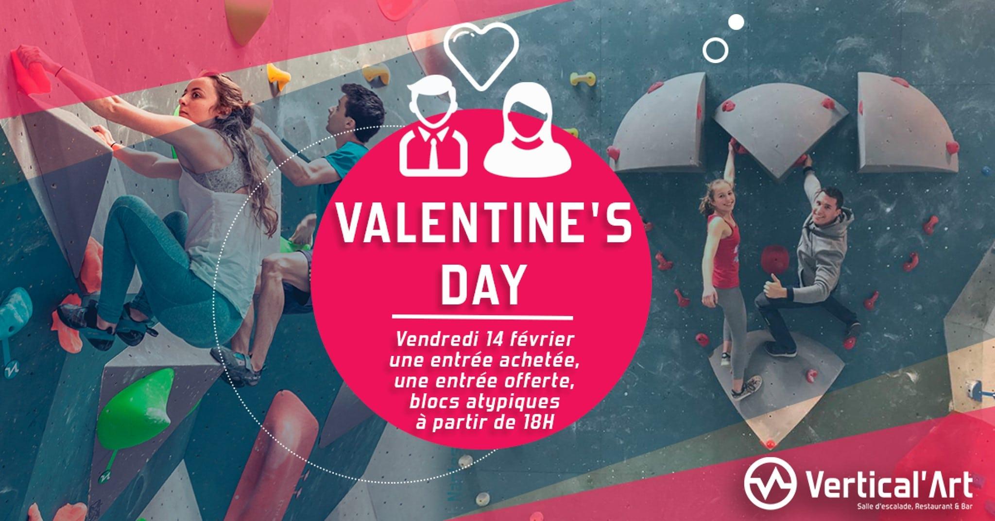 Valentine's day nantes- Vertical'art nantes- Soirée saint valentin à VA Nantes-Soirée des amoureux