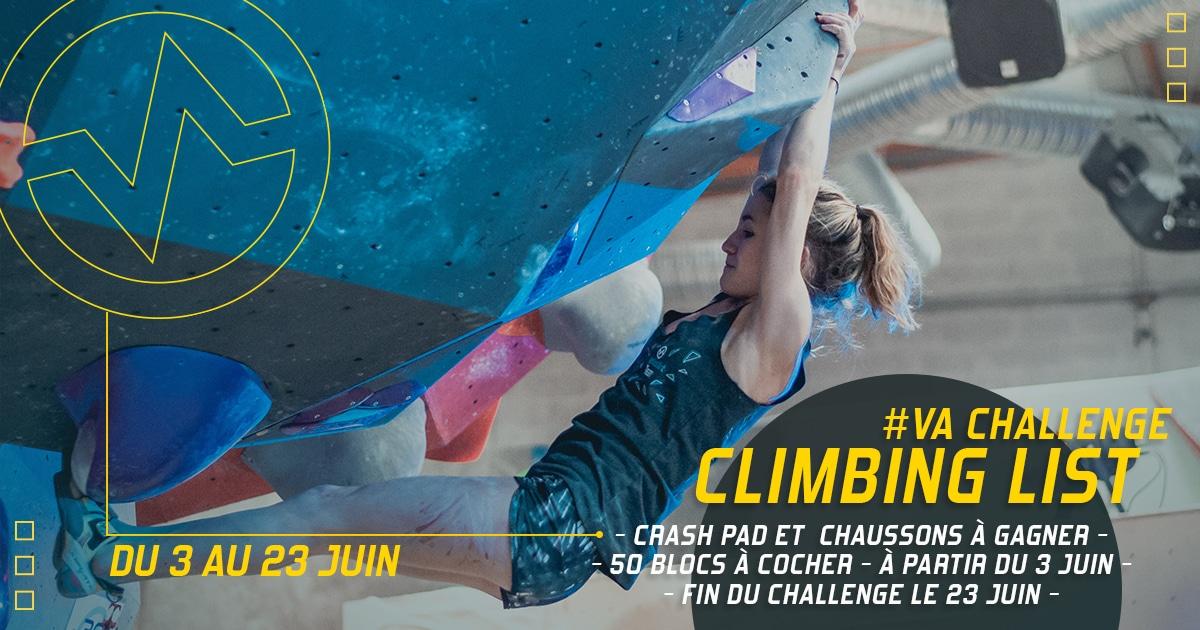 "Challenge atypique ""climbing list"" à Vertical'Art Nantes salle d'escalade restaurant et bar"