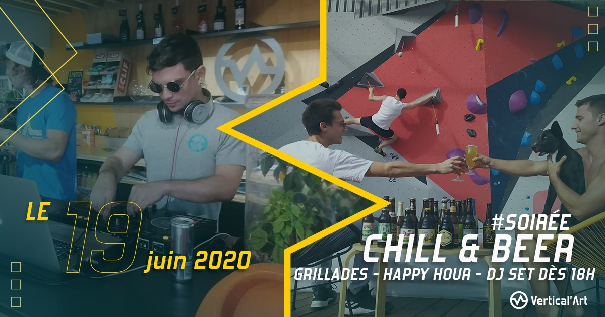 chill & beer a vartical'art nantes barbecue grillade bières restaurant et bar salle d'escalade