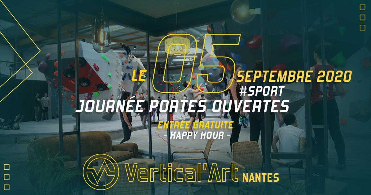 journée portes ouvertes à Vertical'Art Nantes salle d'escalade cours d'escalade stage restaurant et bar