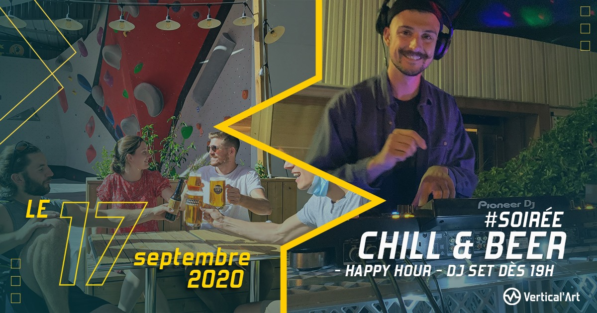 soirée chill and beer à vertical'art nantes, happy hour, dj set et pizzas tout au long de la soirée